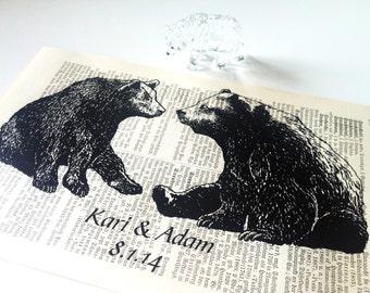 Wedding Gift   Gift for Wife   Valentine Gift   Engagement Gift   Art Print   Book Art   Husband Gift   Bear Love   Housewarming Gift   Love