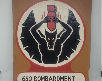 Spring Sale Vintage 650th Bombardment Squadron Teaching Aid Display Patch