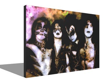 KISS 1976 100% Cotton Canvas Print Using UV Archival Inks Stretched & Mounted