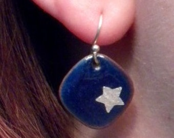 Blue Sky Star Earrings
