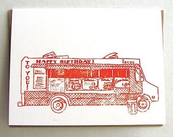 Taco Truck Birthday Card