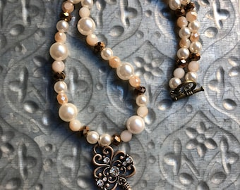 Spring Bridal Collection: Vintage Key Necklace
