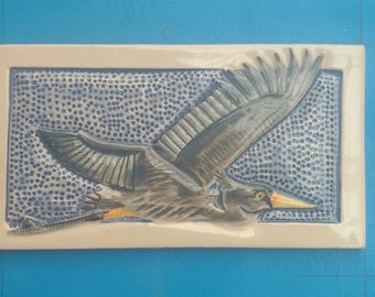 Great Blue Heron, Subway Tile, Handmade, Decorative, Backsplash,  Birders