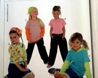Burda 9614 T shirt pattern  New Un-Cut - Factory Folded Sizes 3 - 13