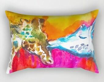 Giraffe Pillow Giraffe Cushion Beautiful sofa pillows Giraffe Bedroom Giraffe Bedding Nursery Decor Giraffe Throw Pillow Giraffe throw
