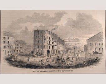 Boston – Massachusetts – Haymarket Square - 1853