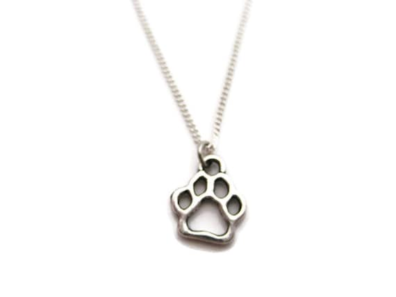 Dog paw necklace paw print necklace paw necklace pet lover mozeypictures Gallery