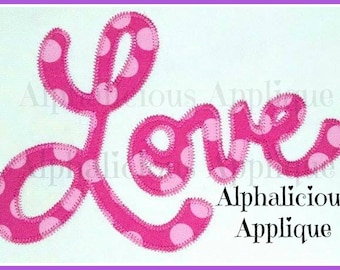 LOVE- Cursive Love Applique- Valentines Applique