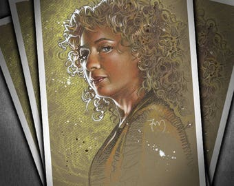 River Song - High Quality Portrait Print of Alex Kingston from Doctor Who