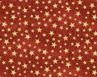 The Way Home Red Stars Fabric - Jennifer Pugh - Wilmington Prints - by the half yard - 100% Cotton