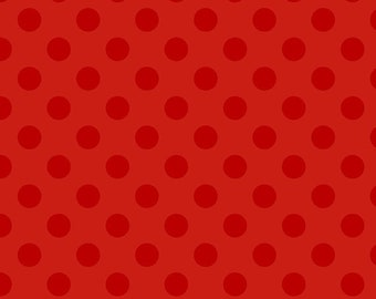 Half Yard - Medium Red Tone on Tone Dots, Riley Blake,  C430, Red on Red, Tone on Tone, Quilting Cotton Fabric, fabric Sale, Cotton Fabric