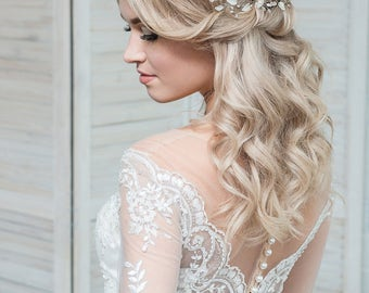 Bridal hair pins  Prom hair piece  Leaf hair piece  Wedding hair piece  Bridal hair accessories  Wedding headpiece  Bridal hair vine