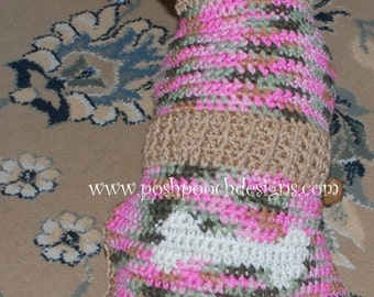 Instant Download - Crochet Pattern - Dog Bone Graph Dog Sweater small dog sweater 2-20 lbs