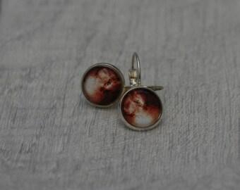 Galaxy Earrings, Nebula Illustration Dangle Earrings, Star Earrings, Space Jewelry