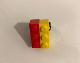 Red & Yellow Lego Ring