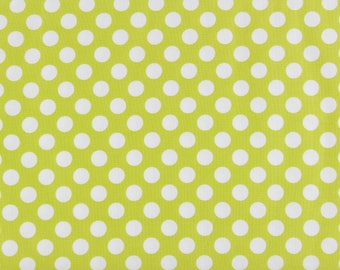 CLEARANCE Michael Miller Ta Dot Celery Green Polka Dot Fabric on Sale, CX1492 celery, fabric destash