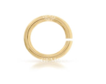 100 Pcs, 14k Gold Filled Open Jump Ring 22ga 3mm (GP-GF2192)