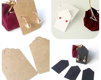 10 Supports earrings display cardboard 3 cm * 5 cm