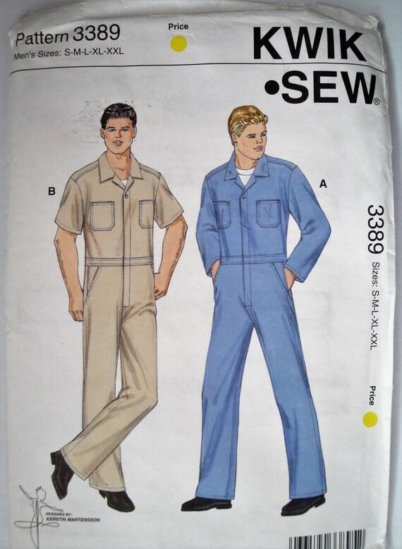 Monos overoles de los hombres Enterizo, Kwik coser 3389, tamaño ...
