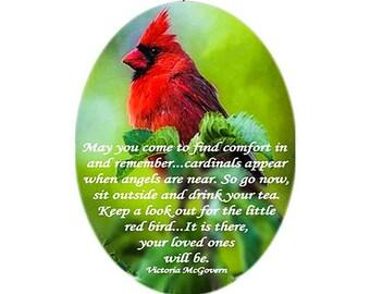 Glass Suncatcher sm - Cardinal - Red Bird - small