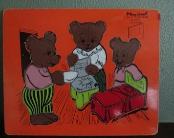 Playskool Three Bears Wood Puzzle