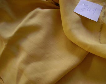 NO. 241-FABRIC LINEN AND SILK NOT FROISSABLE - YELLOW SAND