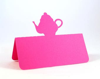 Teapot Place Cards, Tea Party bridal shower, Mad Hatter tea party, Birthday lunch,