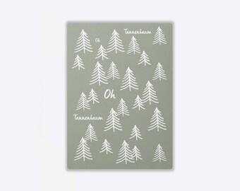 Postcard 'CHRISTMAS FOREST'