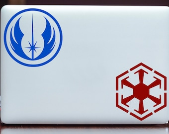 Star Wars Jedi and Sith Insignia Vinyl Decal Sticker