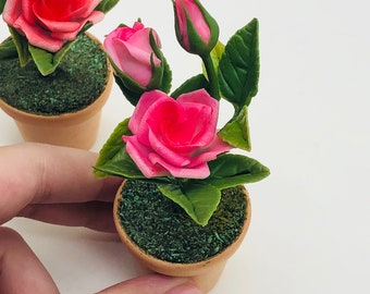 Miniature Rose, Miniature flower,Miniature Miniature Dollhouse Fairy Garden,Dollhouse Flower,Miniature Garden
