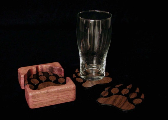 Coasters. We are introducing our NEW Bear Paw Coasters.
