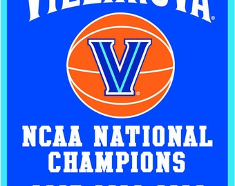Villanova WILDCATS 2018 Men's Basketball National Champions Banner Magnet 2.5 x 3.5