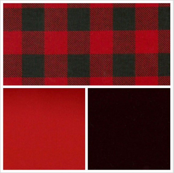 Black and Red Plaid Weighted Blanket, Cotton Flannel, Up to Twin Size, 3 to 20 Pounds, Adult Weighted Blanket, SPD, Autism, Calming Blanket