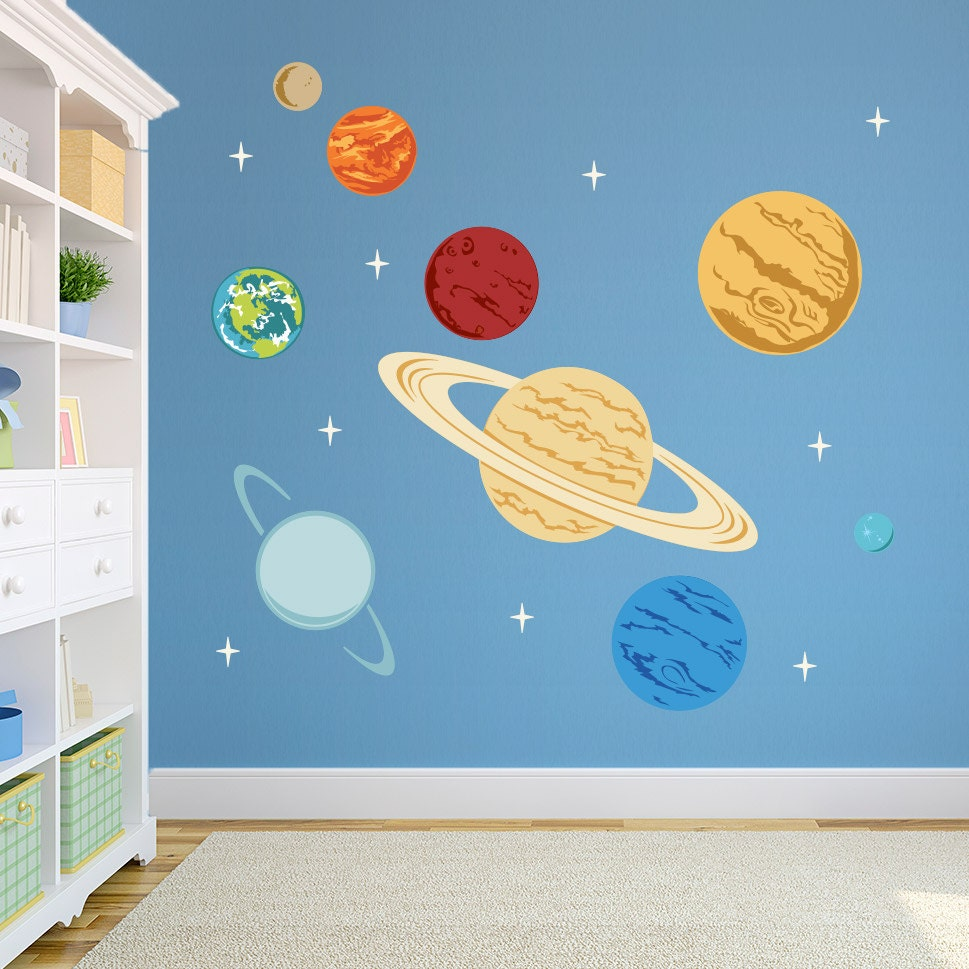 Planets Printed Wall Decal Space Decal Solar System Decal