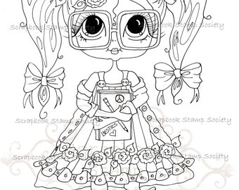 INSTANT DOWMLOAD Digital Digi Stamps Big Eye Big Head Dolls Digi  My Besties IMG761 By Sherri Baldy