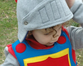 Fleece Knight Helmet with Movable Face Guard - Halloween Costume - Kid Costume