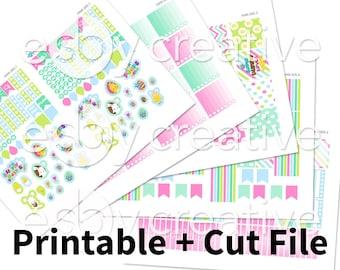 Easter Theme - Weekly Sticker Kit Printable for Erin Condren Horizontal - HWK-005 - INSTANT DOWNLOAD