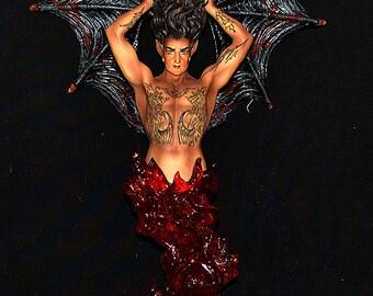 Dark Angel Candle Holder - hoooeeee!