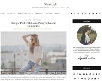 Olsen Light Blogger Template
