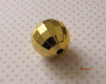 Pearl Gold faceted 2.5 cm