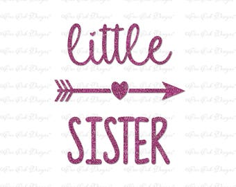 Little Sister Arrow SVG DXF PNG Files for Cameo, Cricut Explore. Brother Scan n Cut, & other Electronic Cutters
