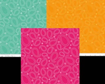 Primavera Fabrics by Riley Blake & Patty Young 3 Color Choices of Paisley Pattern C5744