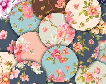 Round Stickers Set | Floral Stickers | Envelope Seals | Scrapbook Boho Stickers | Round Labels | Free Shipping