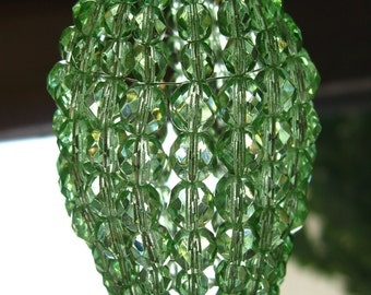 Beaded light bulb covers light bulb shades by lumieresf on etsy small pale green faceted glass chandelier shade sconce shade candelabra light beaded aloadofball Image collections