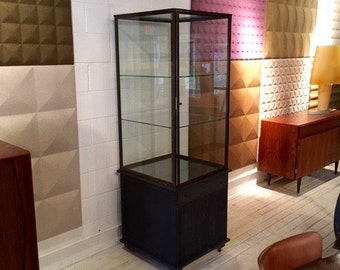 Copper Vitrine with Wood Cabinet