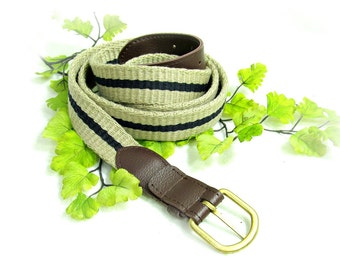 Tan belt. ,men's woven belt , men's belt, ,men's skinny belt, size 42 to 44 ,  # B 3