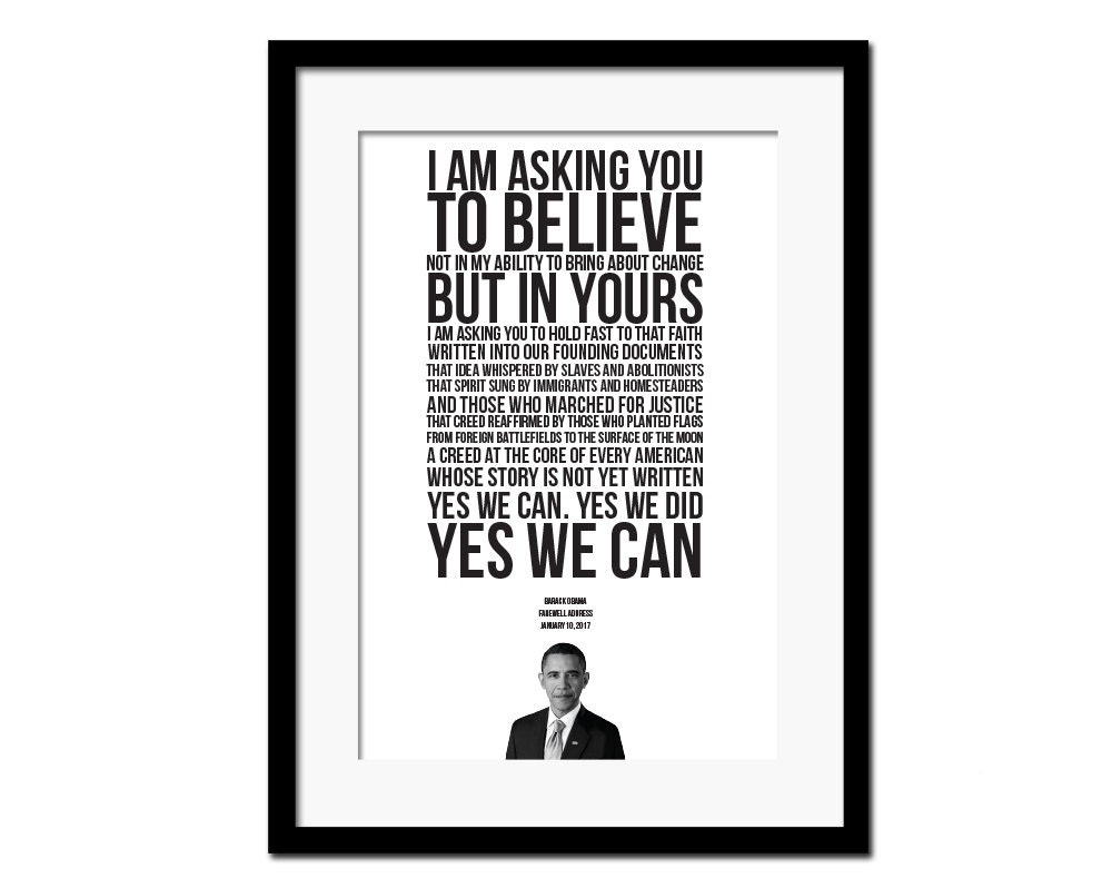 Barack Obama 2017 Farewell Address Obama Quote Classroom