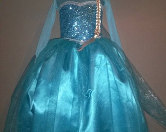 ELSA DRESS FREESHIPPING frozen costume