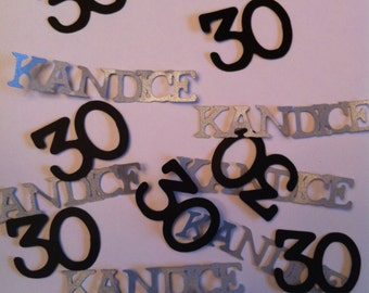 75th Birthday Decorations Personalized Table Confetti