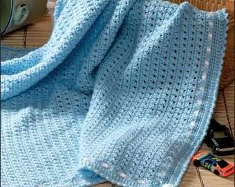 Hand Knit Cotton Baby Blanket - 100% Organic